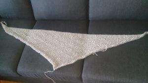 Ferdig sjal uten frynser