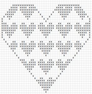 Mønster hjerte i hjerte