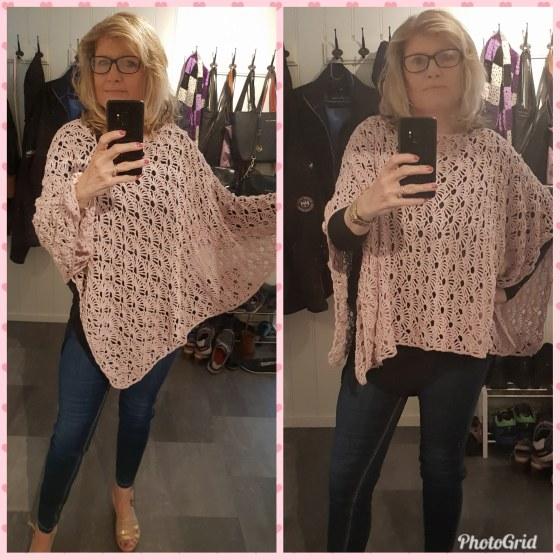 kollasj lys rosa poncho