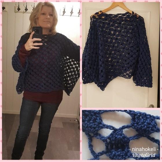 KOllasj blå genser