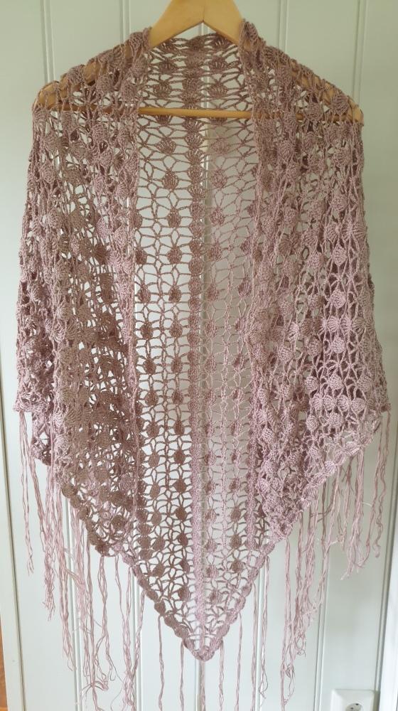 Bilde rosa sjal ferdig