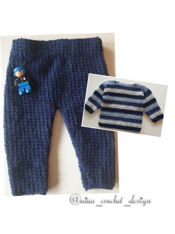 Kollasj bukse 9 -12 måneder