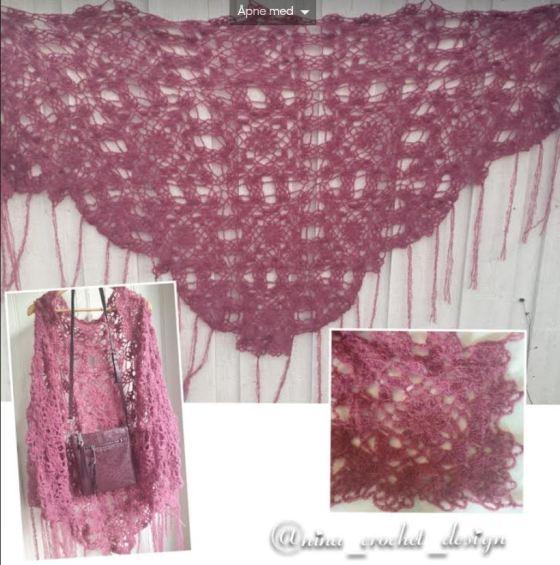 Kollasj rosa sjal