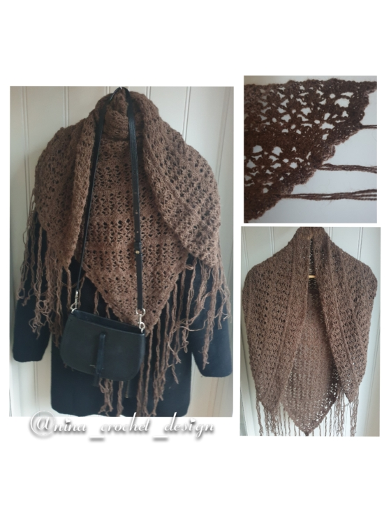 photocollage brunt sjal